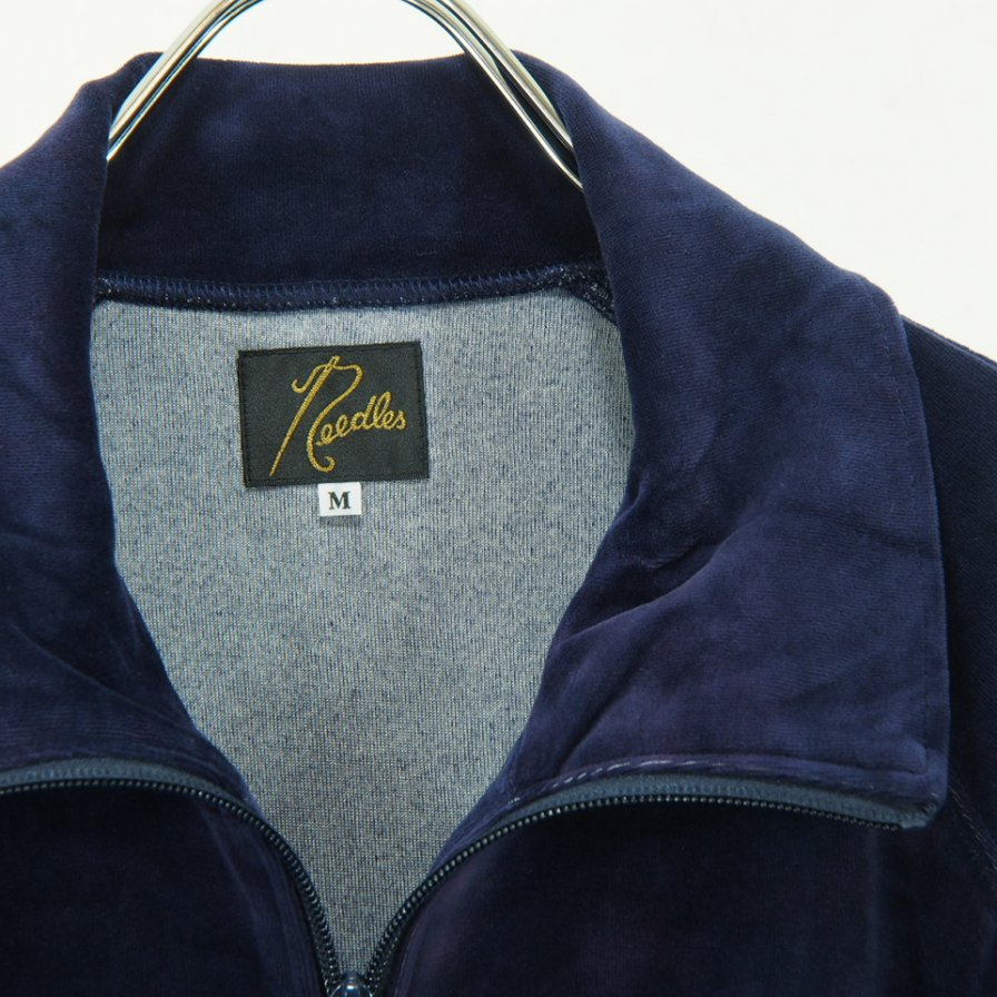 Needles - Track Jacket - C/Poly Velour / Uneven Dye - Navy