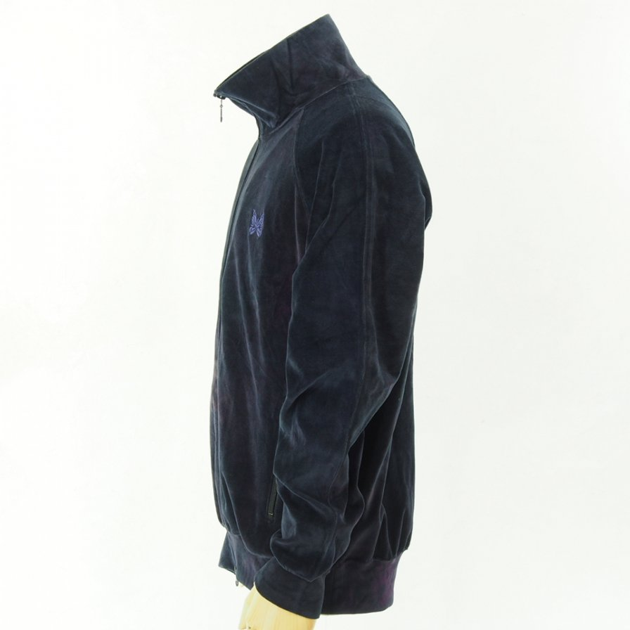 Needles - Track Jacket - C/Poly Velour / Uneven Dye - Black