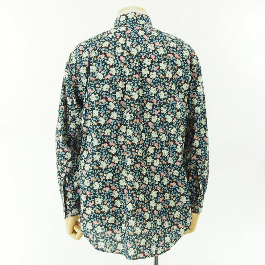 Engineered Garments - 19th BD Shirt - Print Small Rose - Black/Pink