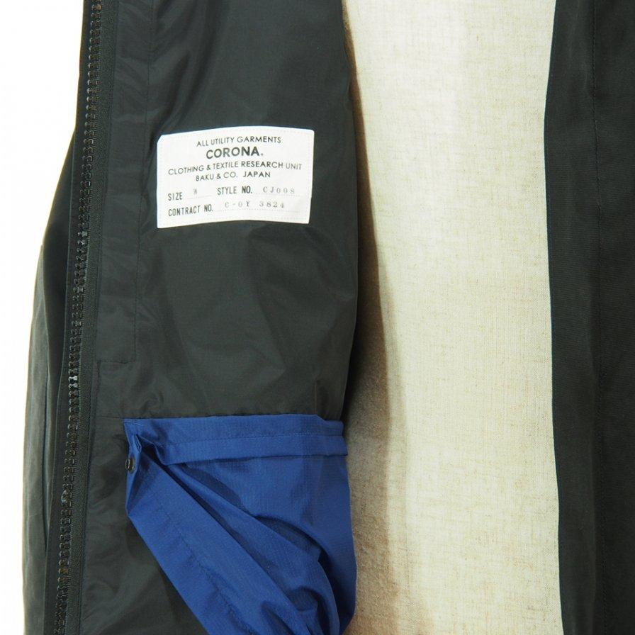 CORONA - G1 Parka Coat - Cotton Grosgrain Cloth - Black