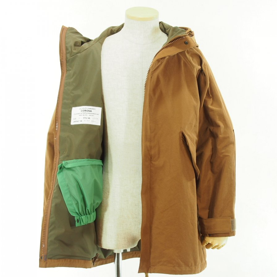 CORONA - G1 Parka Coat - Cotton Grosgrain Cloth - Camel Brown