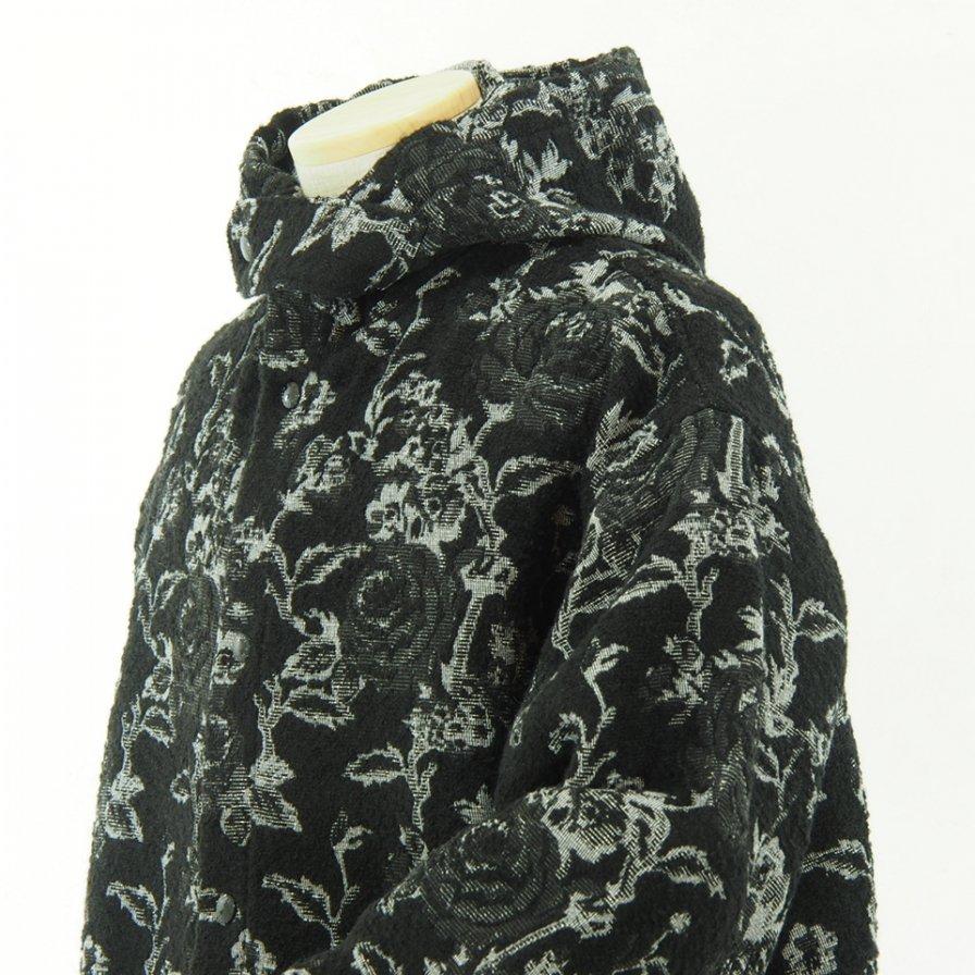 Engineered Garments - Madison Parka - Rose Jacquard - Black / White