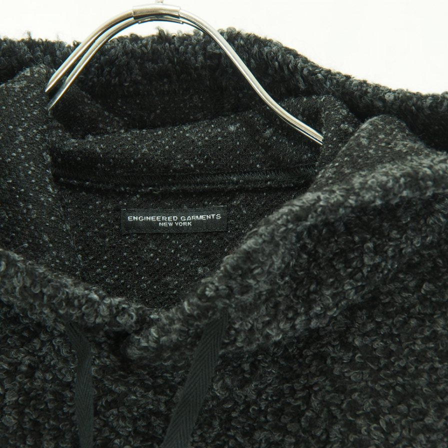 Engineered Garments - Hooded Interliner - Curly Knit - Charcoal