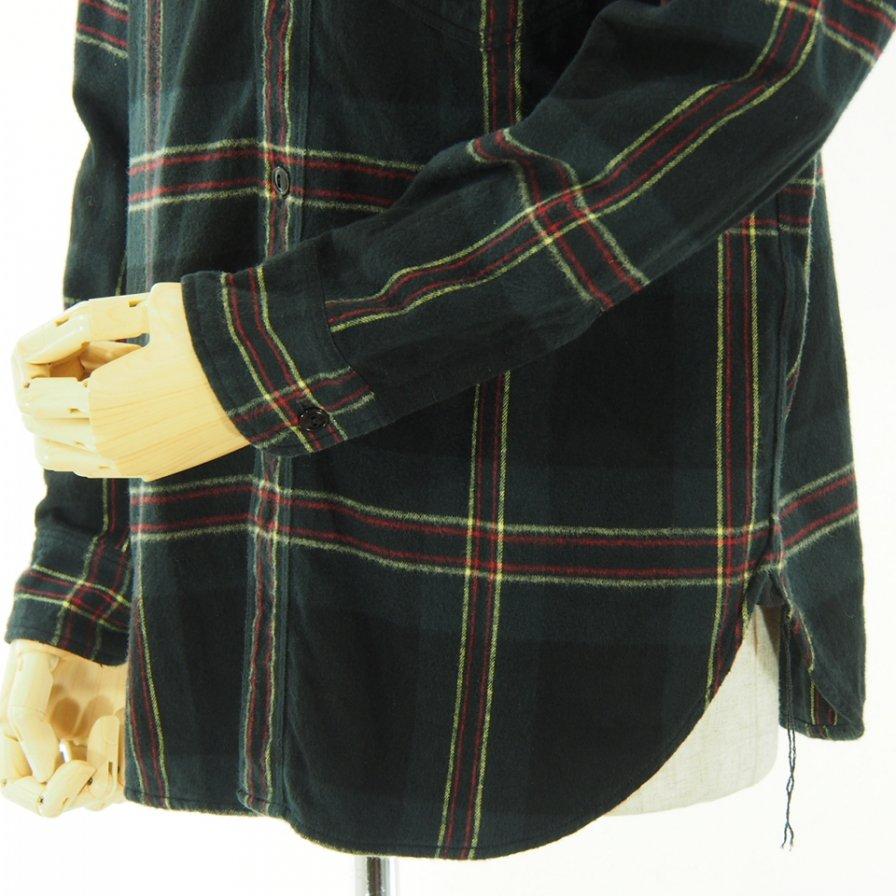 CORONA - Navy 1 Pocket SHirt - Cotton Check Nel - Black / Yellow / Pink