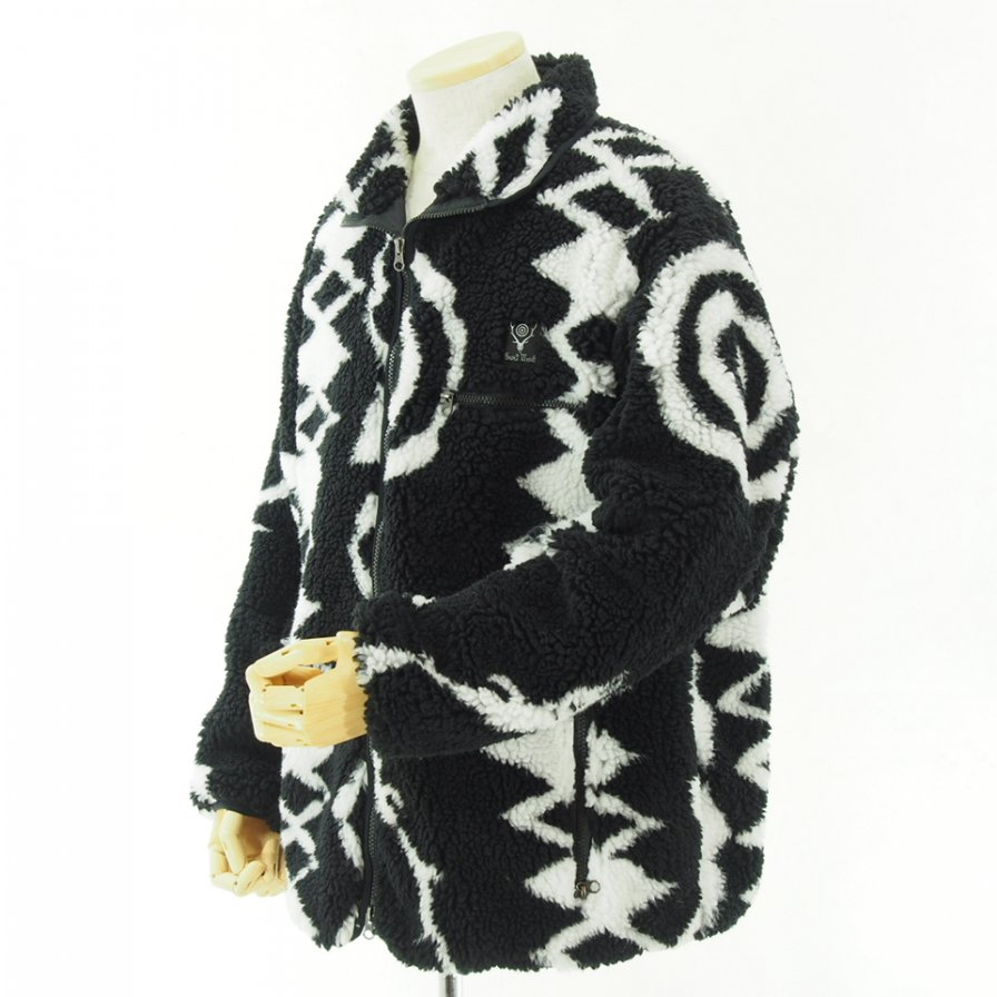 South2 West8 - Pipinig Jacket - Poly Jacquard Pile - S2W8 - Black / White