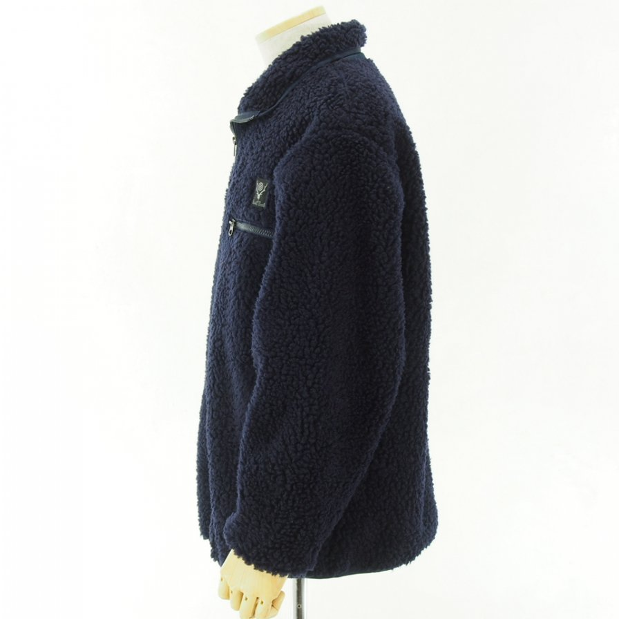 South2 West8 - Pipinig Jacket - Synthetic Pile - Navy