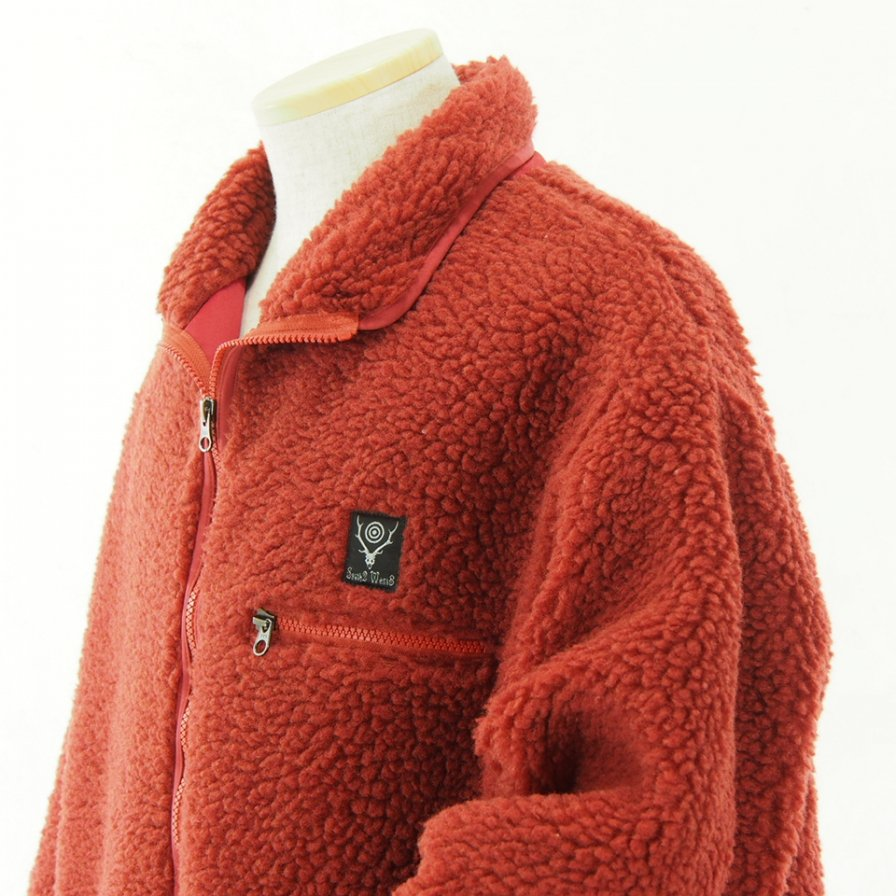 South2 West8 - Pipinig Jacket - Synthetic Pile - Rust