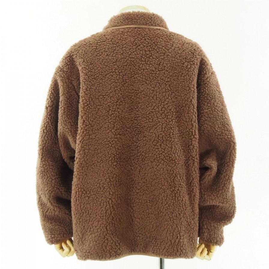 South2 West8 - Pipinig Jacket - Synthetic Pile - Mocha