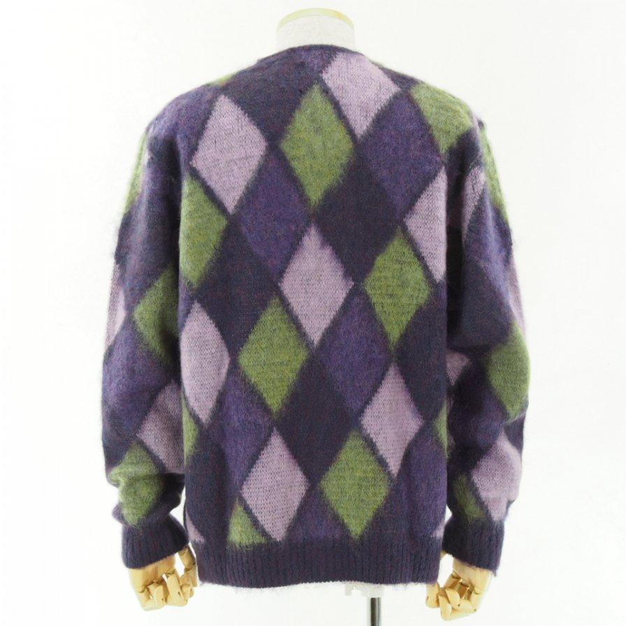 Needles - Mohair Cardigan - Mosaic - Purple