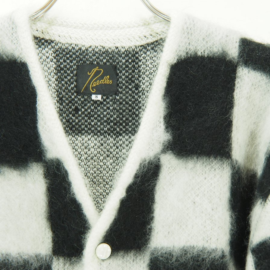 Needles - Mohair Cardigan - Checkered - Off White