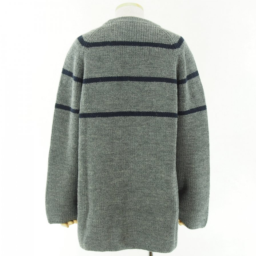 NOMA t.d. ノーマティーディー - Big Stripe Sweater - Grey