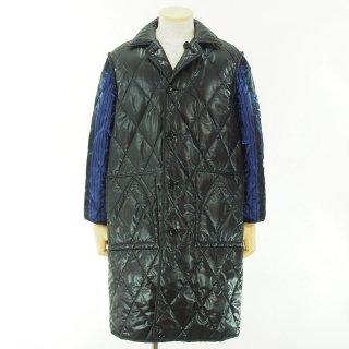 NOMA t.d. - Quilt Stitch Reversible Over Coat - Black / Navy×Black