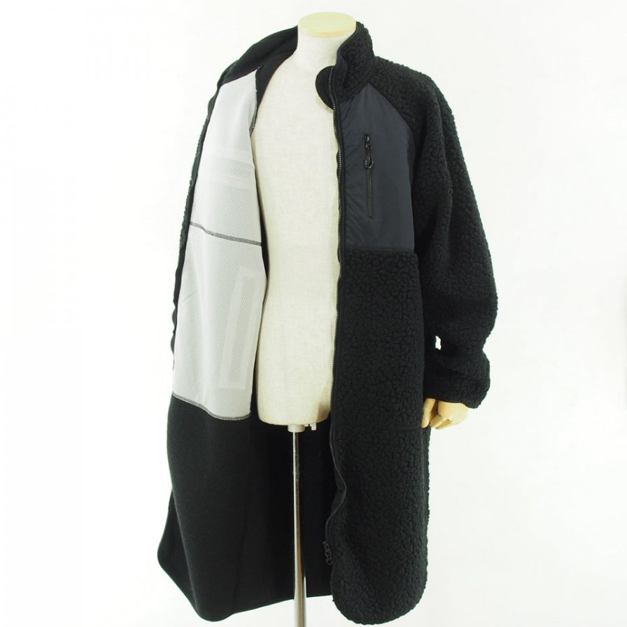 NOMA t.d. - Fleece Long Coat - Black