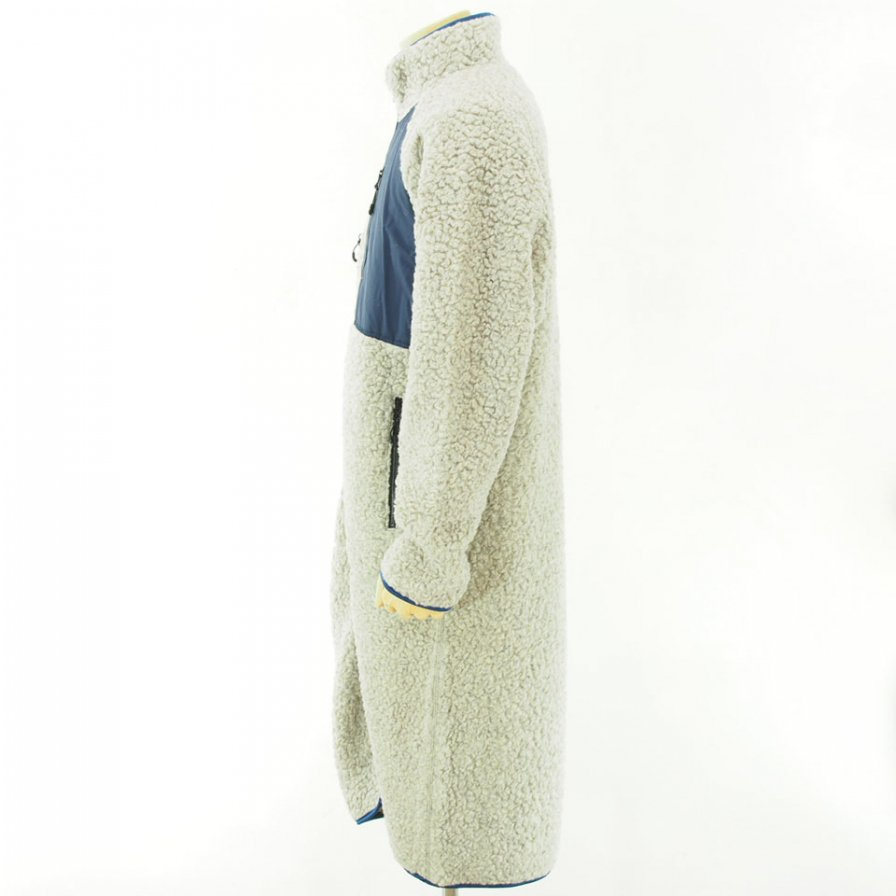 NOMA t.d. - Fleece Long Coat - Off Grey