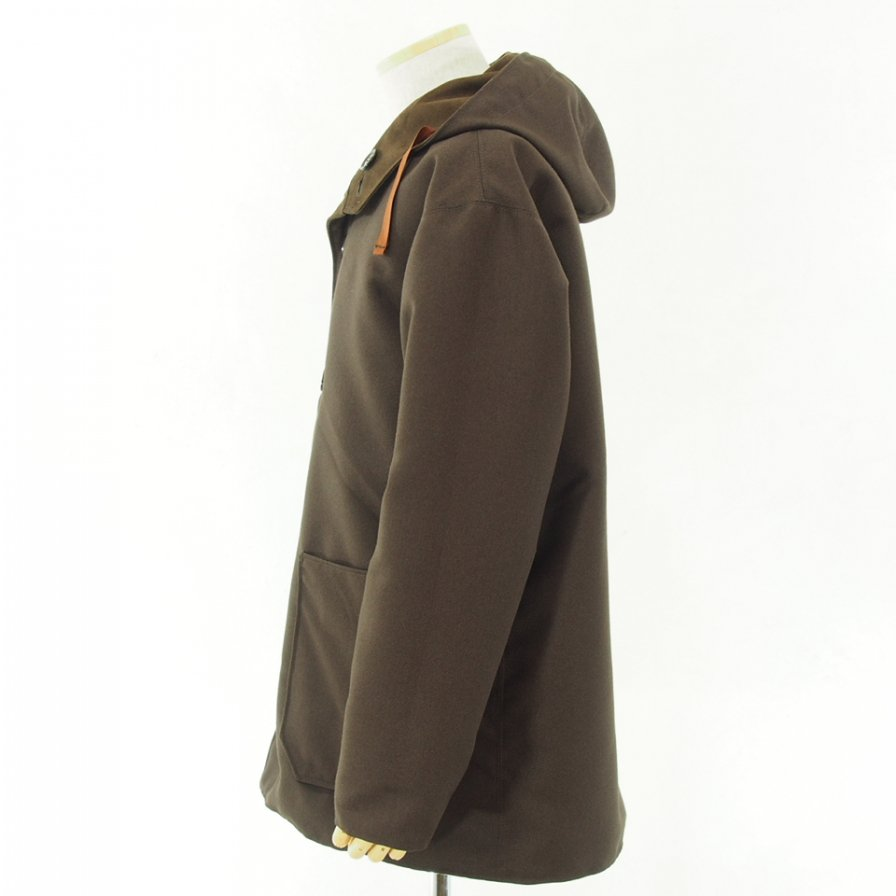 conspires コンスパイアーズ - Mil Parka Reversible - Fake suede / Dry Serge - Brown