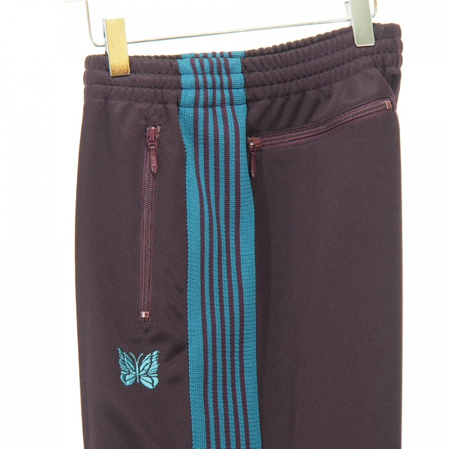 Needles - Track Pant - Poly Smooth - Bordeaux