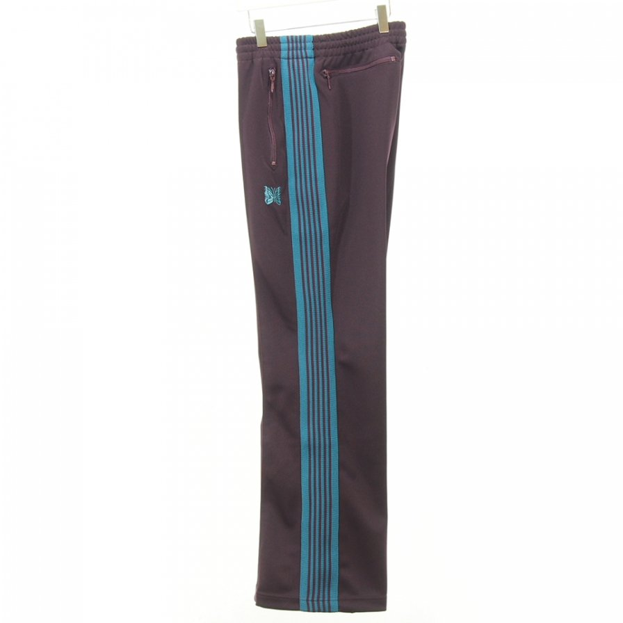 Needles - Boot-Cut Track Pant - Poly Smooth - Bordeaux