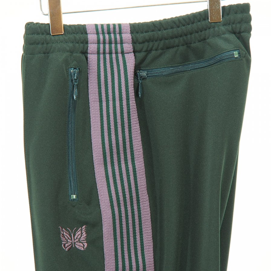 Needles - Boot-Cut Track Pant - Poly Smooth - Green
