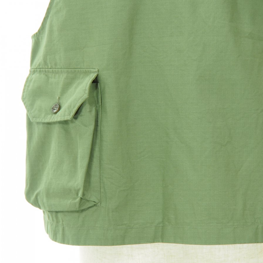 Engineered Garments - Cover Vest - Cotton Ripstop - Olive