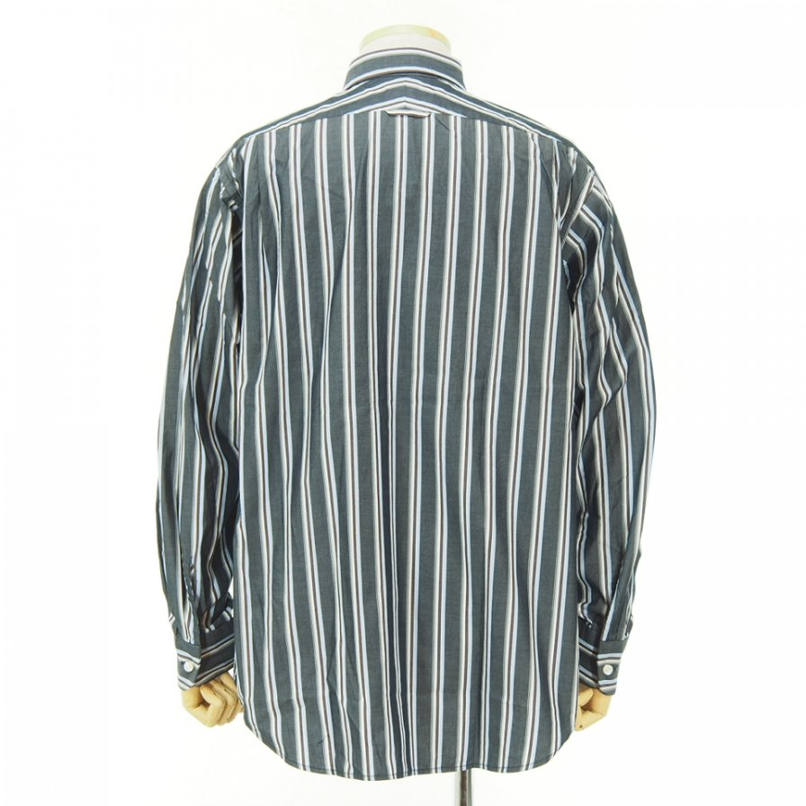 Engineered Garments エンジニアドガーメンツ - Short Collar Shirt - Multi St. Broadcloth - Navy