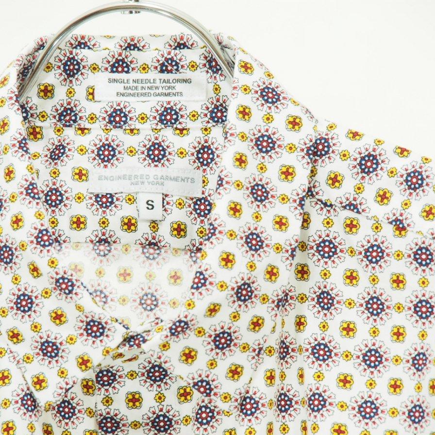 Engineered Garments - Short Collar Shirt - Floral foulard Print - White