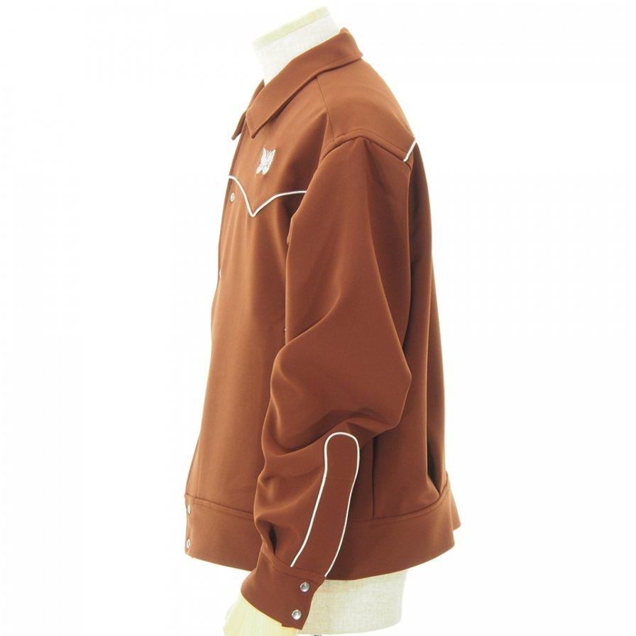 Needles - Papillon Emb. Piping Cowboy Shirt - Pe/Pu Double Cloth - Brown