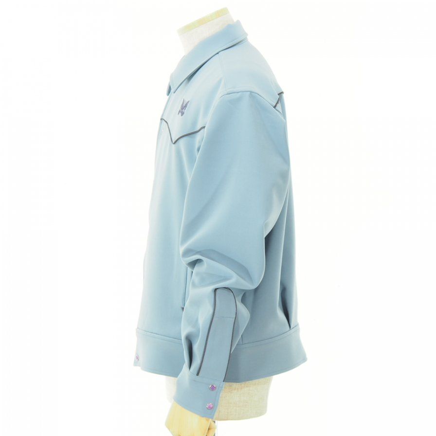 Needles - Papillon Emb. Piping Cowboy Shirt - Pe/Pu Double Cloth - Sax