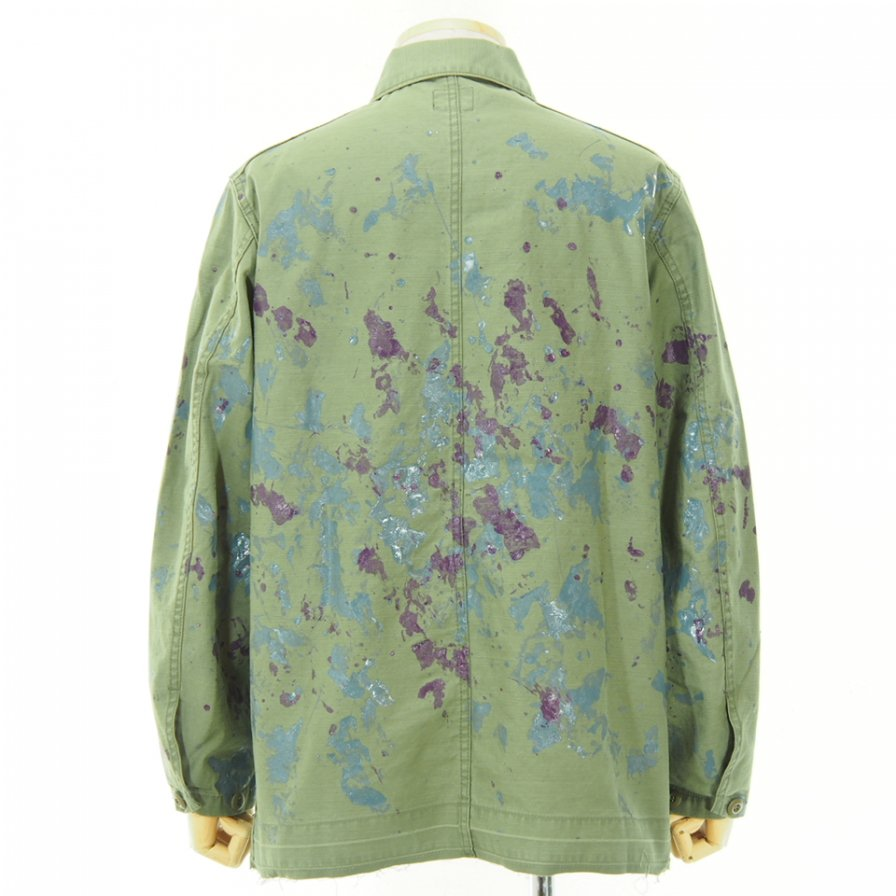 Needles - D.N. Coverall - Back Sateen / Paint - Olive