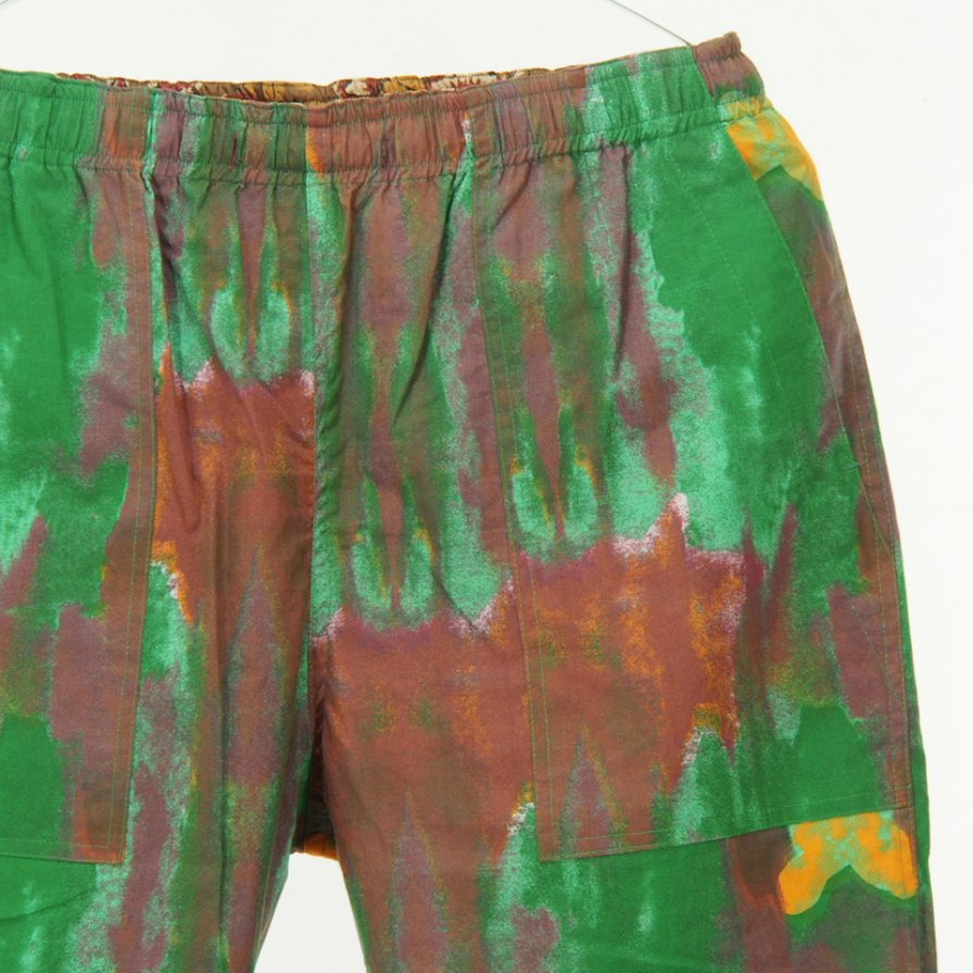 Needles - Reversible String Easy Pant - Cotton Cloth / Print - Brown