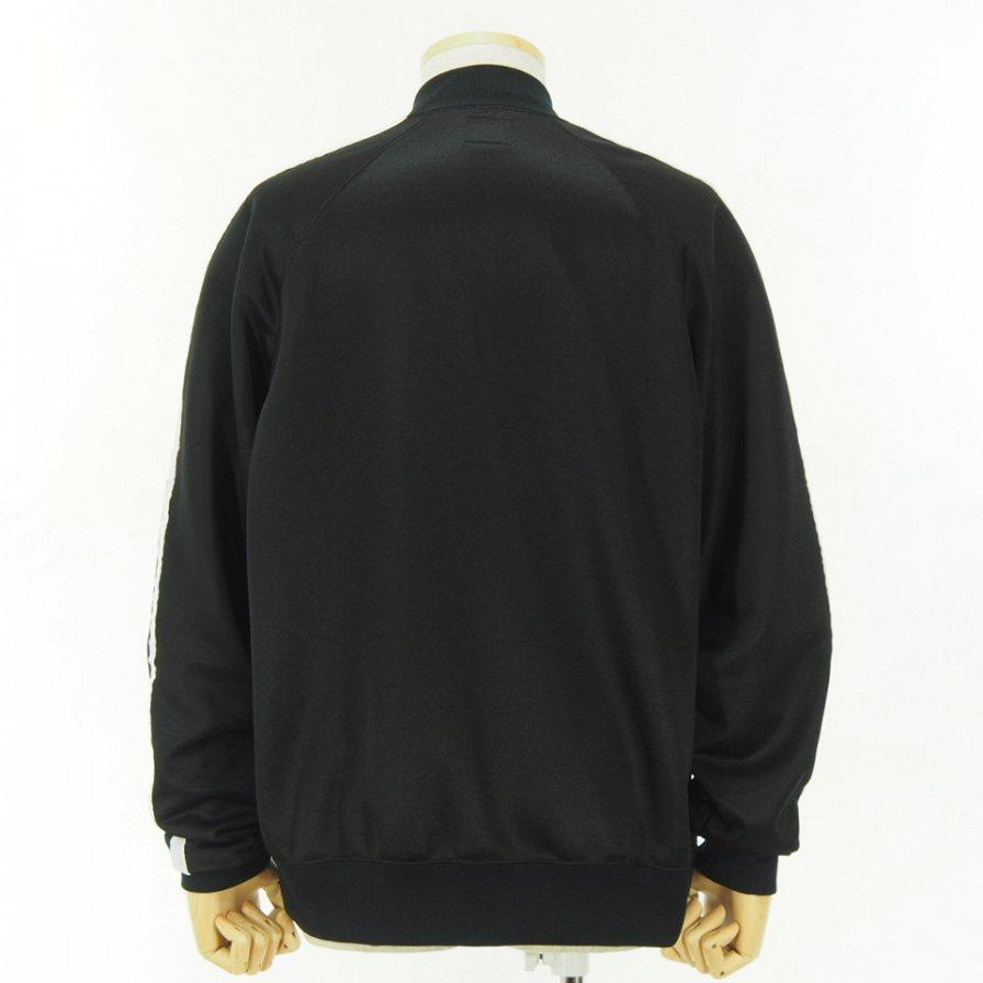 Needles - Side Line Rib Collar Jacket - Bright Poly Jersey - Black / White