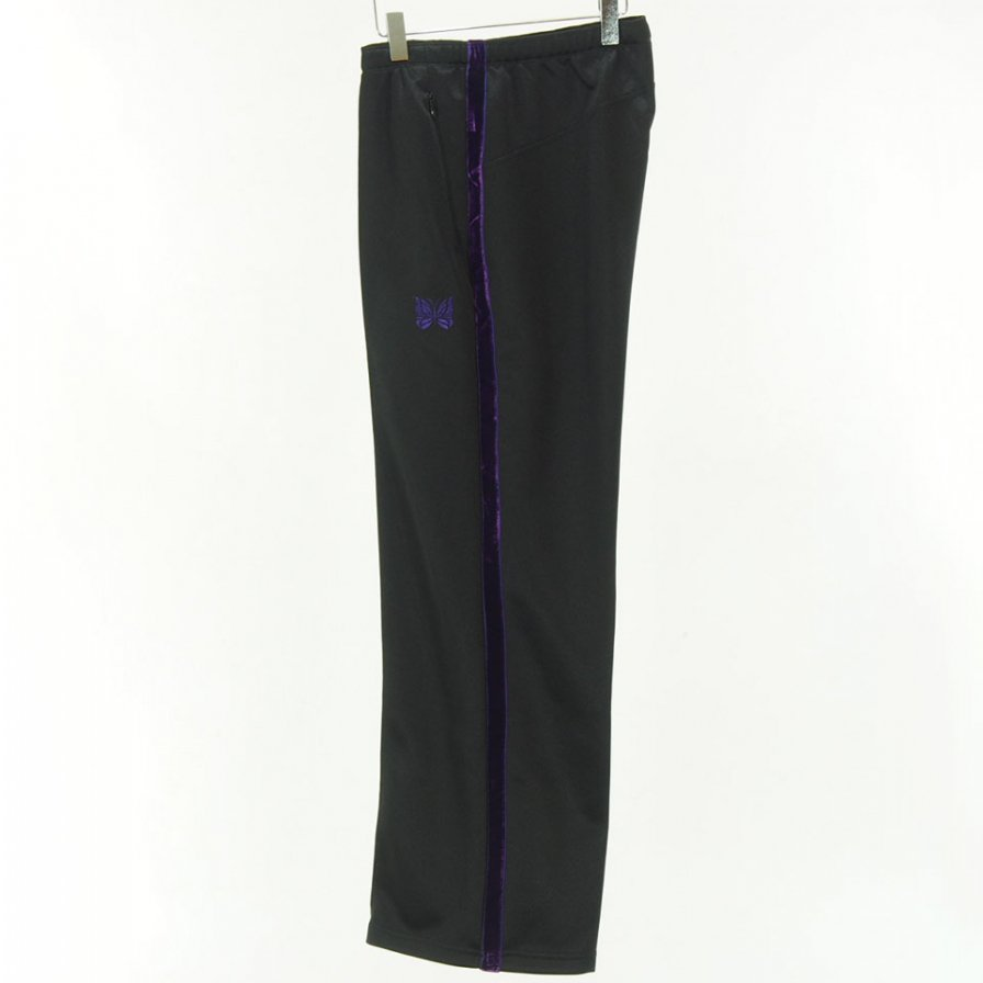Needles - Side Line Center Seam Pant - Bright Poly Jersey - Black / Purple