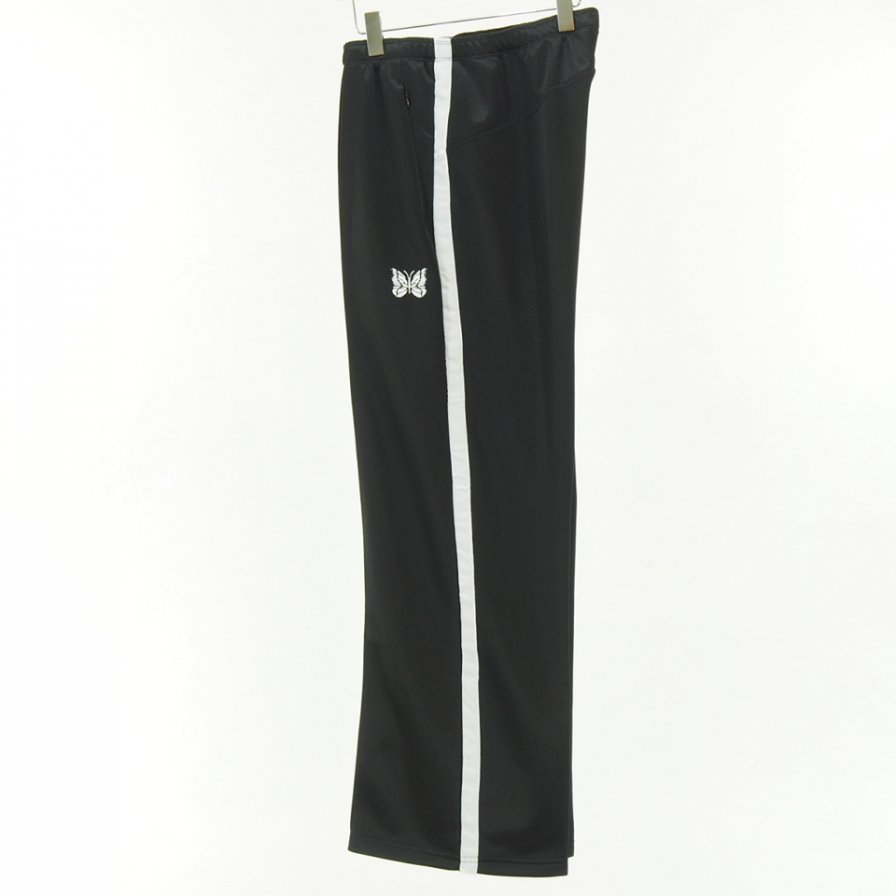 Needles - Side Line Center Seam Pant - Bright Poly Jersey - Black / White