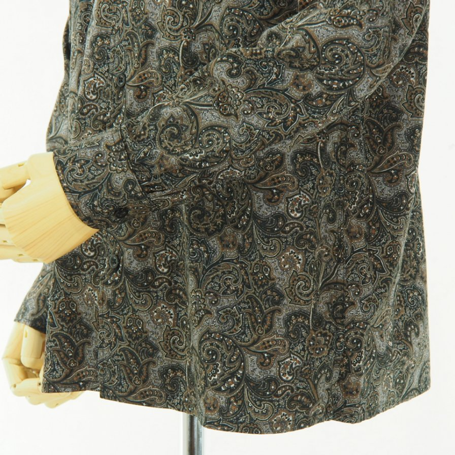 Engineered Garments - Classic Shirt - Paisley Print - Black / Brown