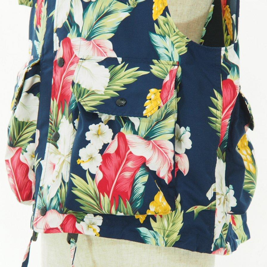 Engineered Garments - Field Vest - Hawaiian Floral Microfiber - Navy
