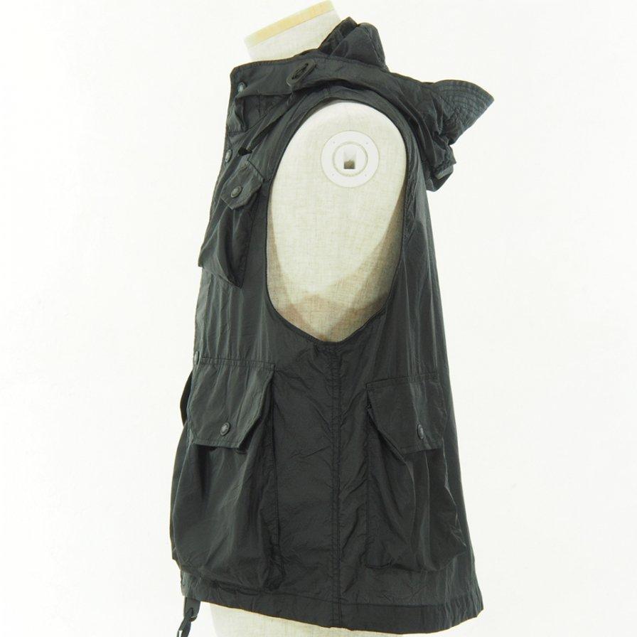 Engineered Garments - Field Vest - Nylon Micro Ripstop - Black