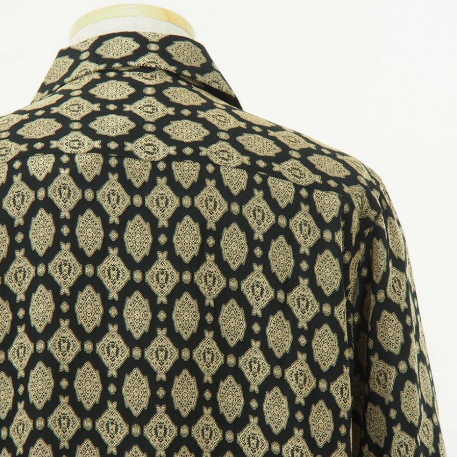 Needles - Cut Off Bottom Classic Shirt - Cu/Ac Jacuquard - Fine Pattern