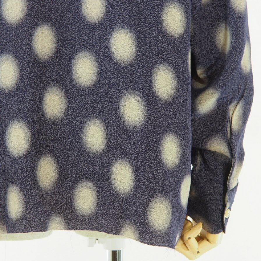 Needles - Cut Off Bottom Classic Shirt - Ac/Cu Jacuquard - Polka Dot