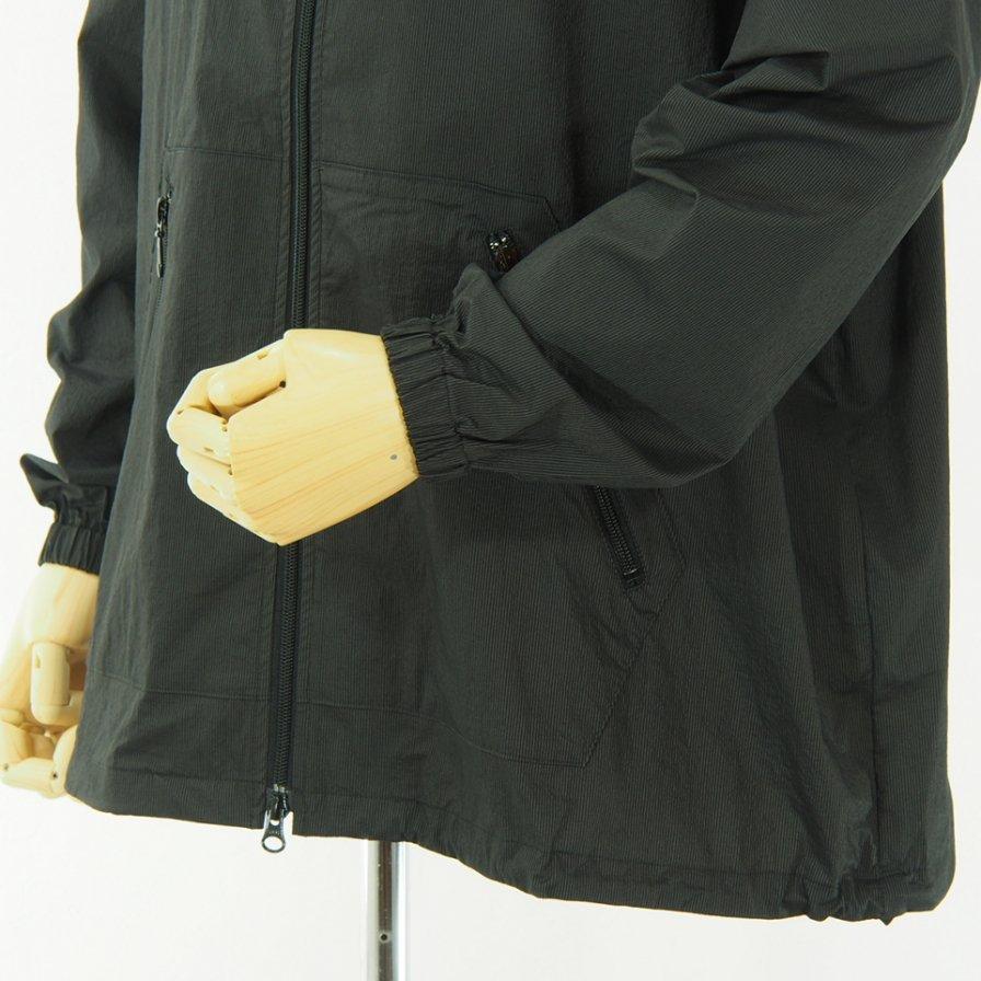 Needles - Jog Jacket - Nylon Iridescent Stripe - Charcoal
