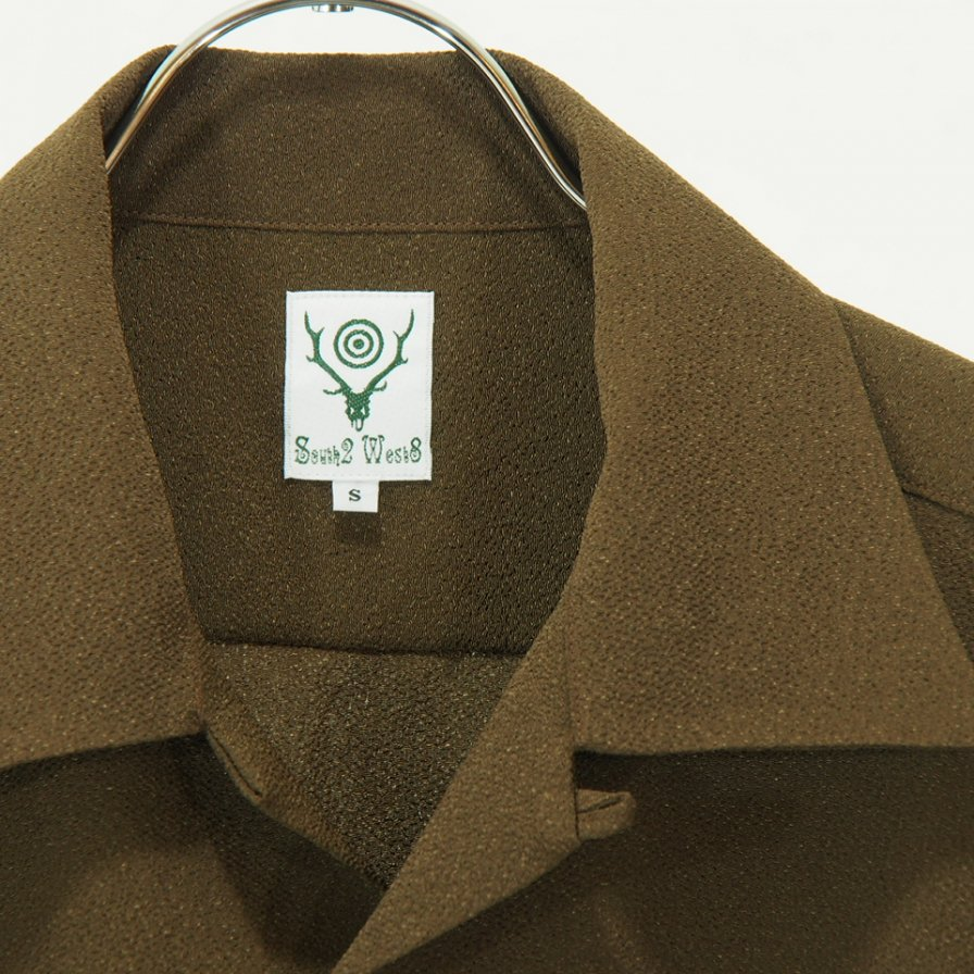 South2 West8 - One Up Shirt - Poly Crepe Cloth - Brown