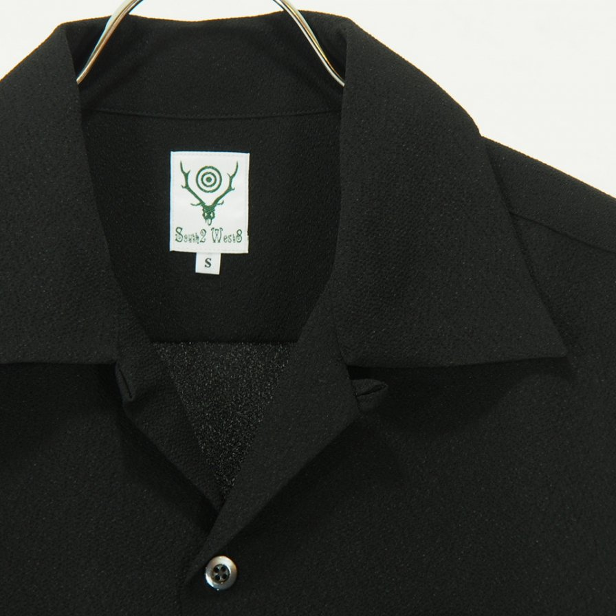 South2 West8 - One Up Shirt - Poly Crepe Cloth - Black