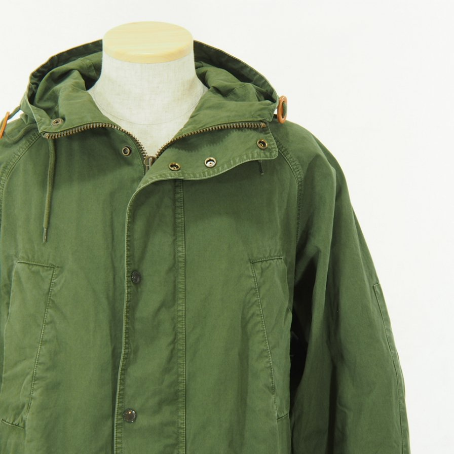 Engineered Garments × Barbour - Washed Highland Parka - Olive