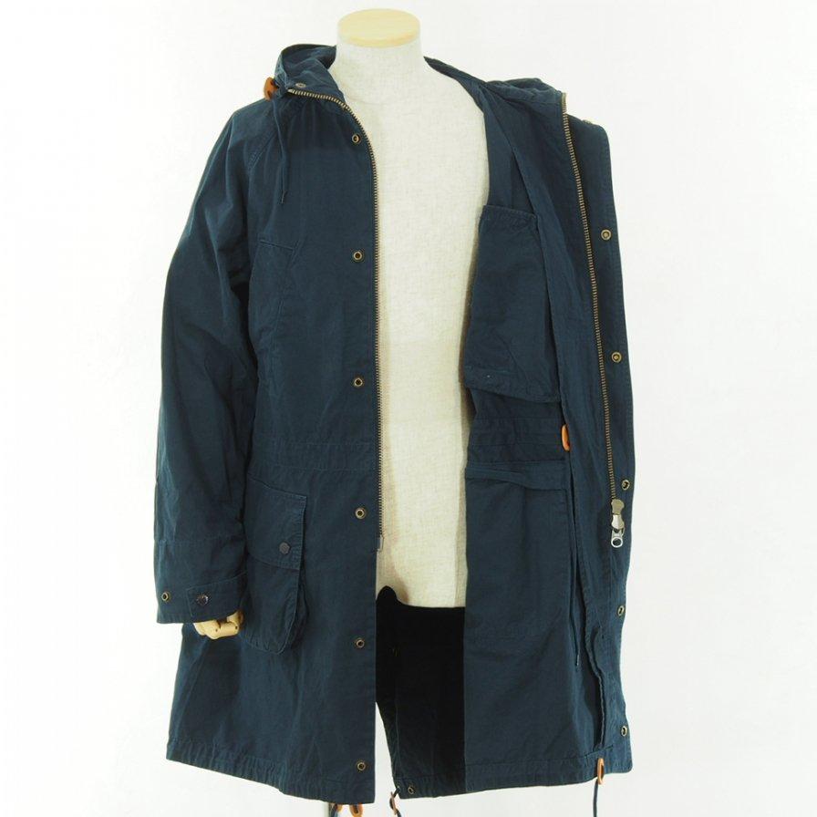 Engineered Garments × Barbour - Washed Highland Parka - Navy