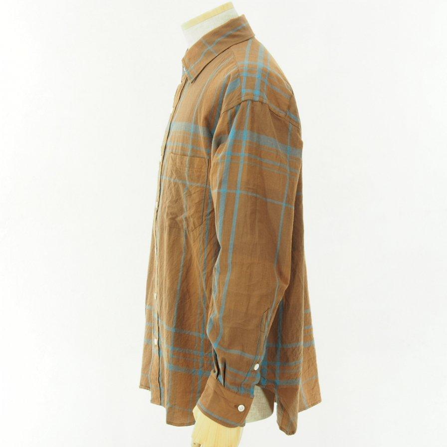 ts(s) - Large Plaid C/W Shirt - Brown