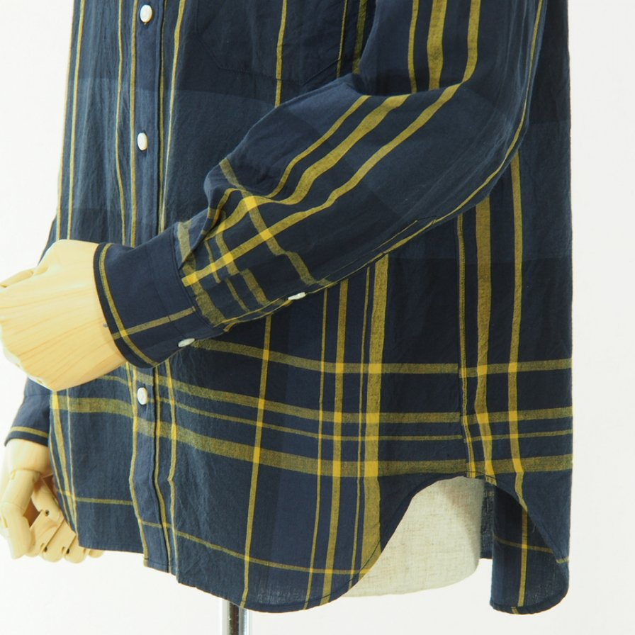 ts(s) - Large Plaid C/W Shirt - Navy