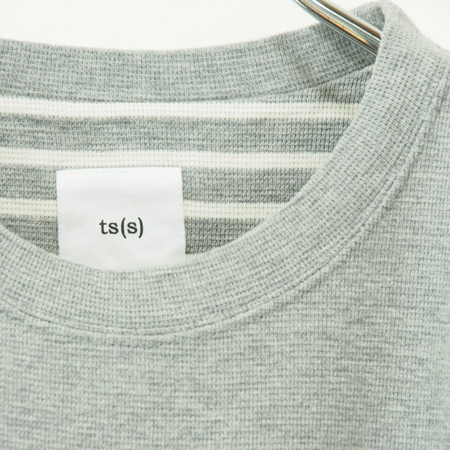 ts(s) - Solid / Stripe Basque Cotton Jersey - Grey