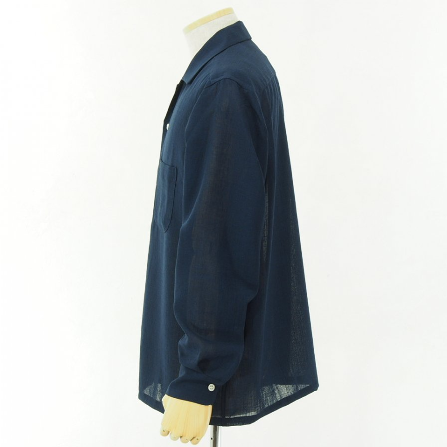 conspires - Boyled Long Sleeve Shirt - Navy