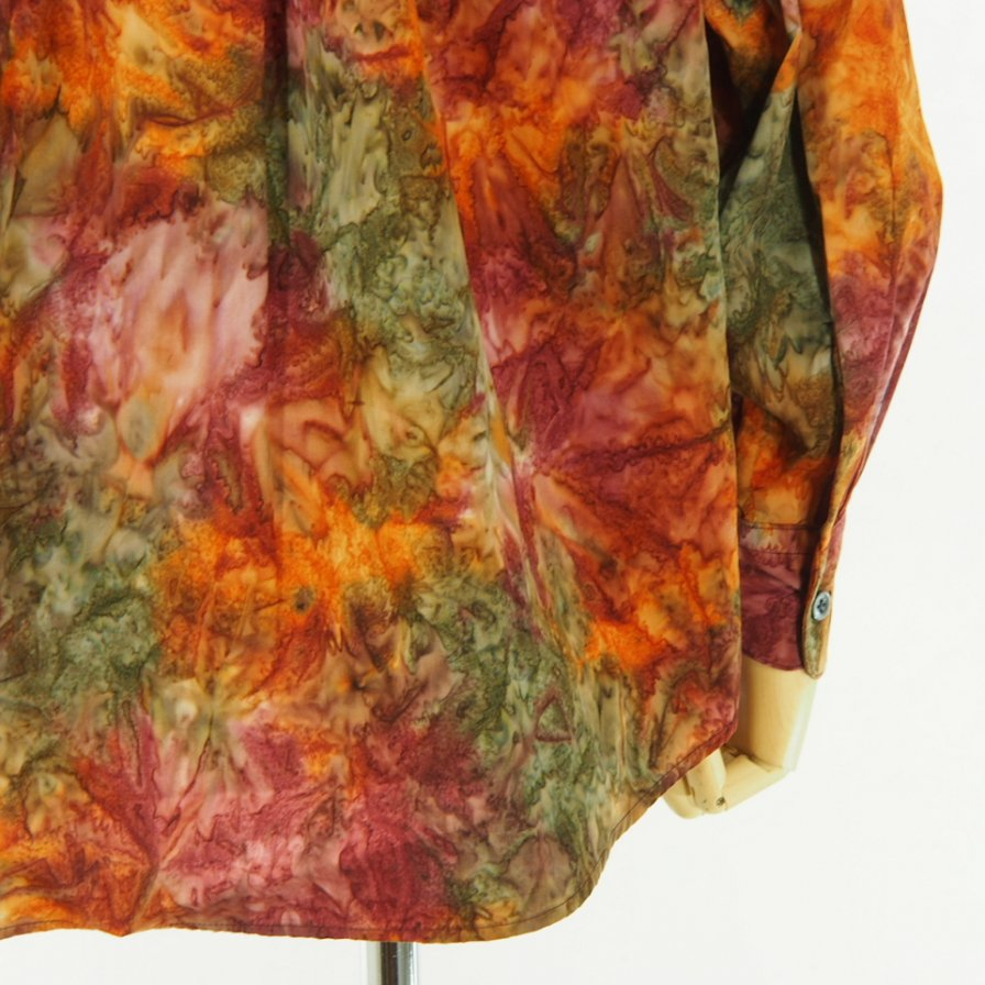 AiE - Painter Shirt - Abstract Batik - Orange
