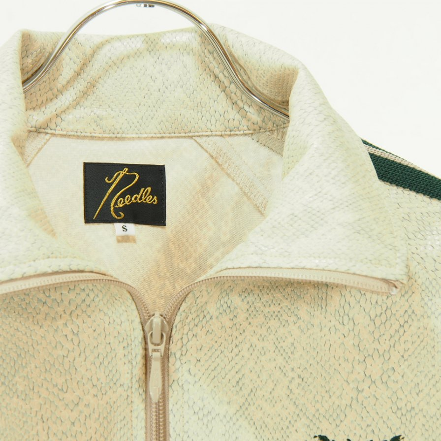 Needles - Track Jacket - Synthetic Leather / Python - Beige