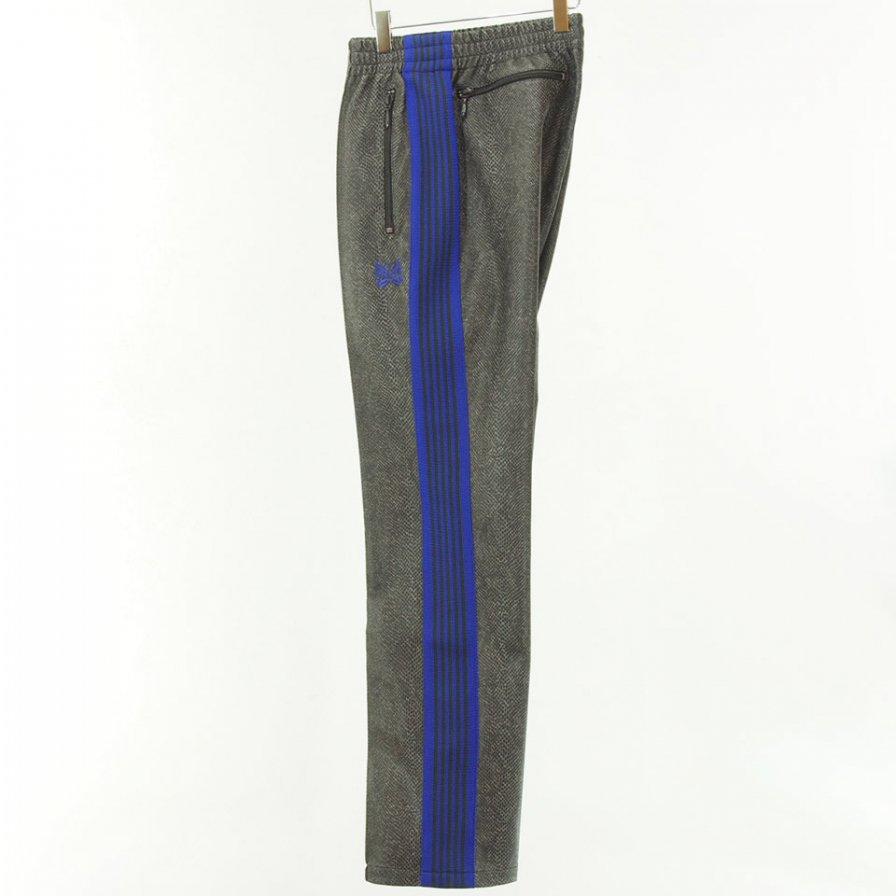 Needles - Narrow Track Pant - Synthetic Leather / Python - Grey