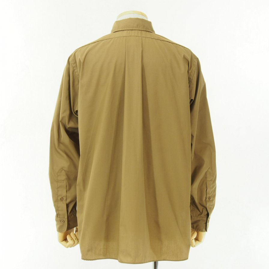 CORONA - White Collar Work Shirt - Brown Shade